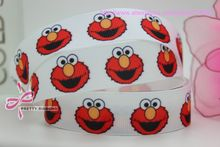 new 7/8'' Free shipping elmo sesame street cartoon printed grosgrain ribbon bow diy party decoration custom wholesale 22mm P397(China)