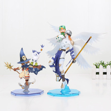 Digimon Adventure Hikari Takaishi Takeru Wizarmon Tailmon Gatomon Angemon PVC action figure collection model toy 20-22cm