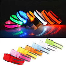 Creative Sports Festival Parties Flashing Led Light Glow Armband Belt Multi Color#73697
