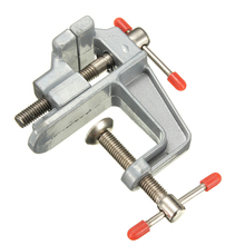 1PC Aluminum Miniature Small Clamp On Table Bench Vise Tool Wholesale Price