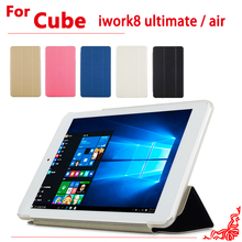 "New Arrival 8.0""  Ultra thin case For Cube iwork8 ultimate Flip pu Leather case cover for Cube iwork8 air"