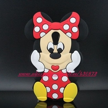 For Motorola Moto G2 Case HOT 3D Silicon Minnie Style Soft Cell Phone Back Cover for Motorola Moto G2 G+1 XT1068 XT1069