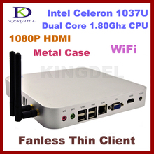Good 2GB Ram& 320GB HDD, Fanless thin client Computer, Mini Desktop Intel Celeron Dual Core, 1.8Ghz, 1080P HIMI, Windows 7, WIFI