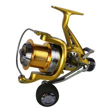 Left/Right Handle Metal Spool fishing reel Carp Spinning Fishing Reels 12+1BB Stainless steel Shaft Rear Drag Wheel(China)