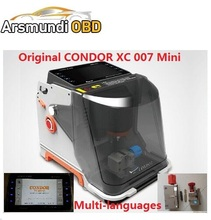 CONDOR Mini XC 007 auto Key Cutting Machine CONDOR XC007 in Portuguese/Spanish/French/Germany/Russian better Slica key machine