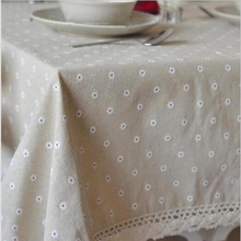 Linen Table Cloth European style Words Print High Quality Tablecloth Table Cover