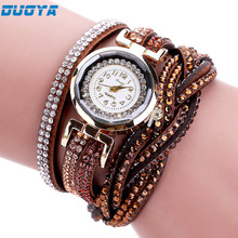 Duoya Brand Watches Women Luxury Crystal Women Bracelet Quartz Wristwatch Rhinestone Clock Ladies Dress Gift Watches July19