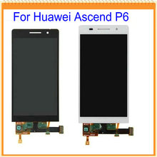 "4.7"" New For Huawei Ascend P6 LCD Screen Display with Touch ScreenDigitizer Assembly Black White Pink Colors Free Shipping"