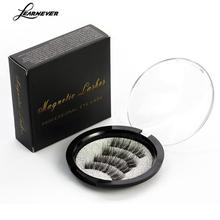 4pcs/pair 3d Magnetic False Eyelashes DIY Handmade Mink Reusable False Triple Natural Long Soft Thick Hair Magnet Eye Lashes(China)