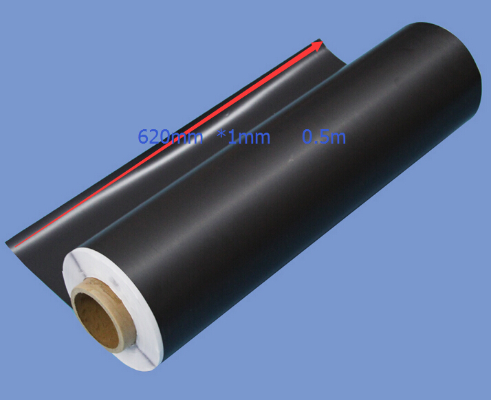 Rubber soft  magnet 620mmx1mm Sheet Magnet 1mm thickness  magnet 0.5M LONG advertising or whiteboard magnetic sheet best price<br>