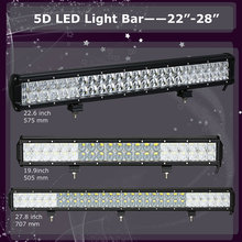 5D 20 23 28 inch 210W 240W 300W LED Bar LED Work Light Bar with Cree LED Chips for Offroad Truck 4x4 4WD ATV SUV 12V 24V