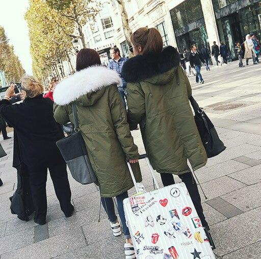 New Womans Winter Parkas Down Cotton Coat Autumn 2016 Fashion Female Overcoat Long Design Raccon fox furОдежда и ак�е��уары<br><br><br>Aliexpress