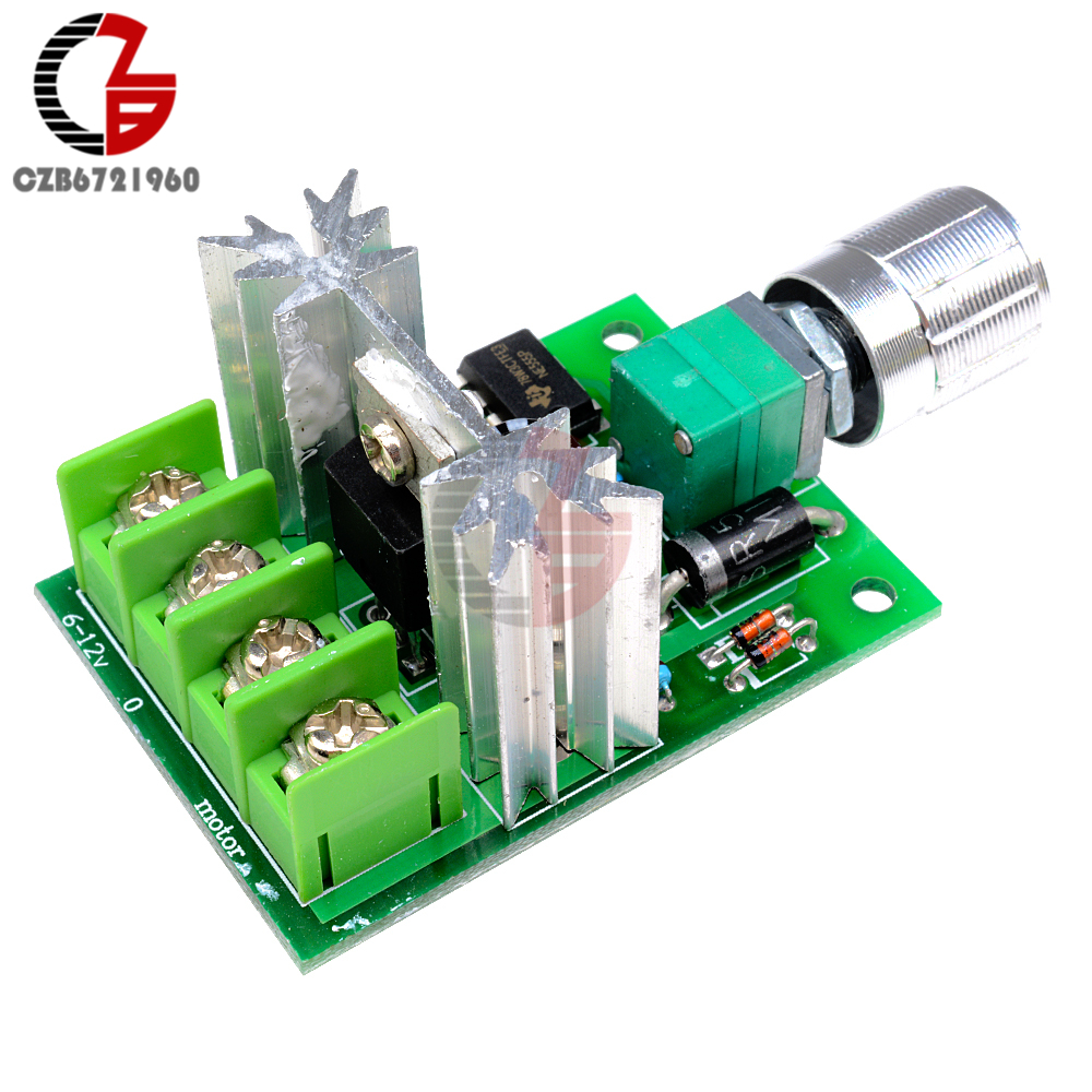 High Power 6A 6V-12V PWM No-Polarity DC Motor Speed Regulator Controller Board Speed Motor Control Switch Board 5