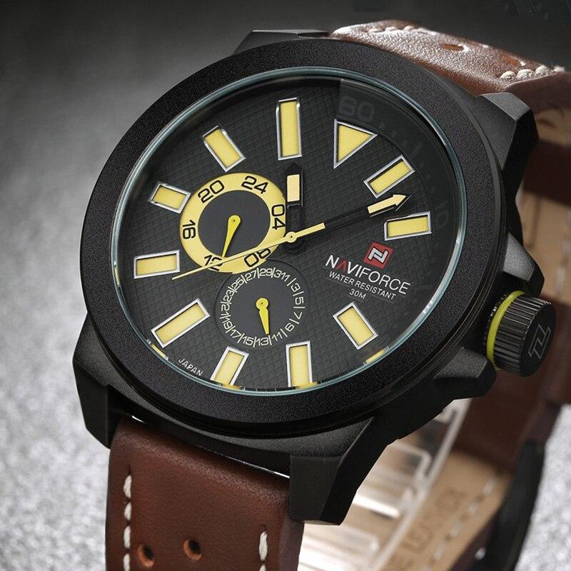 Men Wristwatches Top Brand New Luxury Sport Watches Men 2017 Naviforce High Quality Leather Quartz Wrist Watch Clock Men Reloj<br><br>Aliexpress