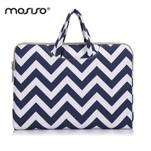 MOSISO Chevron Canvas Laptop Briefcase Bag For Macbook/Acer/Asus Notebook Bag Case 11 12 13 14  15 15.6inch Sleeve Handbag Hot