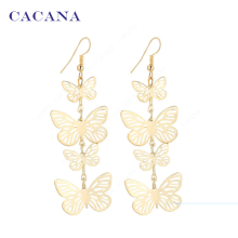 CACANA Dangle Long Earrings For Women Flying Butterfly Fashion Top Quality Bijouterie Hot Sale No.A219 A220