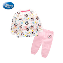 Disney Autumn Suit Baby Clothes Fall Newborn Clothes Long Sleeved Cotton Underwear Size 66-90(China)