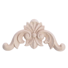 Woodcarving Decal Corner Applique Frame Furniture Door Decorative Figurines Unpainted Carved Wooden Miniatures