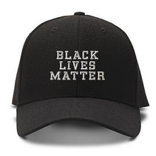 FreeShipping Black Lives Matter Letters Print Baseball Cap Trucker Hat For Women Men Unisex Mesh Adjustable Size Black White