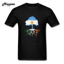 Men T Shirt Argentina Argentinian Irish Ireland Roots Tshirt Man Youth Short Sleeve 100% Cotton Tee Shirt For Male Tops Clothing(China)