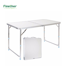 Finether 55 Lb Capacity Fold Table Height-Adjustable Aluminum Folding Table For Camping Tailgating Pinics BBQs Dinning and Party