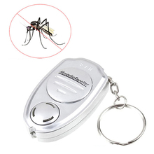 1PCS Anti Mosquitos Insect Control Ultrasonic Mosquito Repeller Pest Bug Repellent Insect Keychain Control(China)