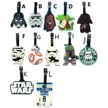 12Style Star Wars Darth Vader Creative Silicone Luggage Tag Pendants Hang Tags Tourist Products Toy Figure 1pc