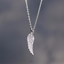 Vintage Silver Plated Wing Short Necklace For Women Wedding Bijoux Collares Jewelry Exo Colar 2017 Girl Gift One Direction NA781(China)