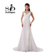 Evening Long Dress 2017 Cheap Long Party Dress Elegant Lace Appliques Beaded Evening Dress For Women White Chiffon Gowns A-line