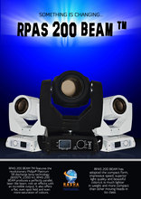 RPAS 200 BEAM TM-200W 5R Sharpy Moving Head Beam,Stage Moving Head Beam Light With LCD Touch Screen Display 7R Beam(China)
