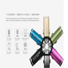 Kumietec car charger to Quick car Charge for Samsung fast car charger for iphone car inverter free shipping wholesale(China)