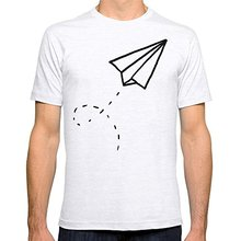 Movie T Shirts Short Graphic Short Sleeve Crew Neck Broadcloth Paper Plane Fitted O-Neck Mens Tees