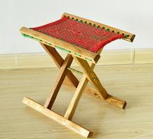 3pcs/lot Nanzhu folding stool chairs portable outdoor solid wood stool chairs strengthen paragraph fishing Beach Chairs SY30
