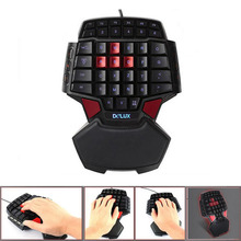 Professional Gaming Keyboard LED Backlight Wired USB Game For CS LOL WOT T9