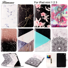 Buy Marble Pattern PU Leather Flip Case Apple iPad mini 1 2 3 mini2 mini3 7.9'' inch Original Protector Funda Card Slot B08 for $8.79 in AliExpress store