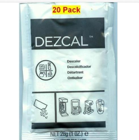 URNEX DEZCAL COFFEE MAKER &amp; ESPRESSO DESCALER 20 PACK<br>