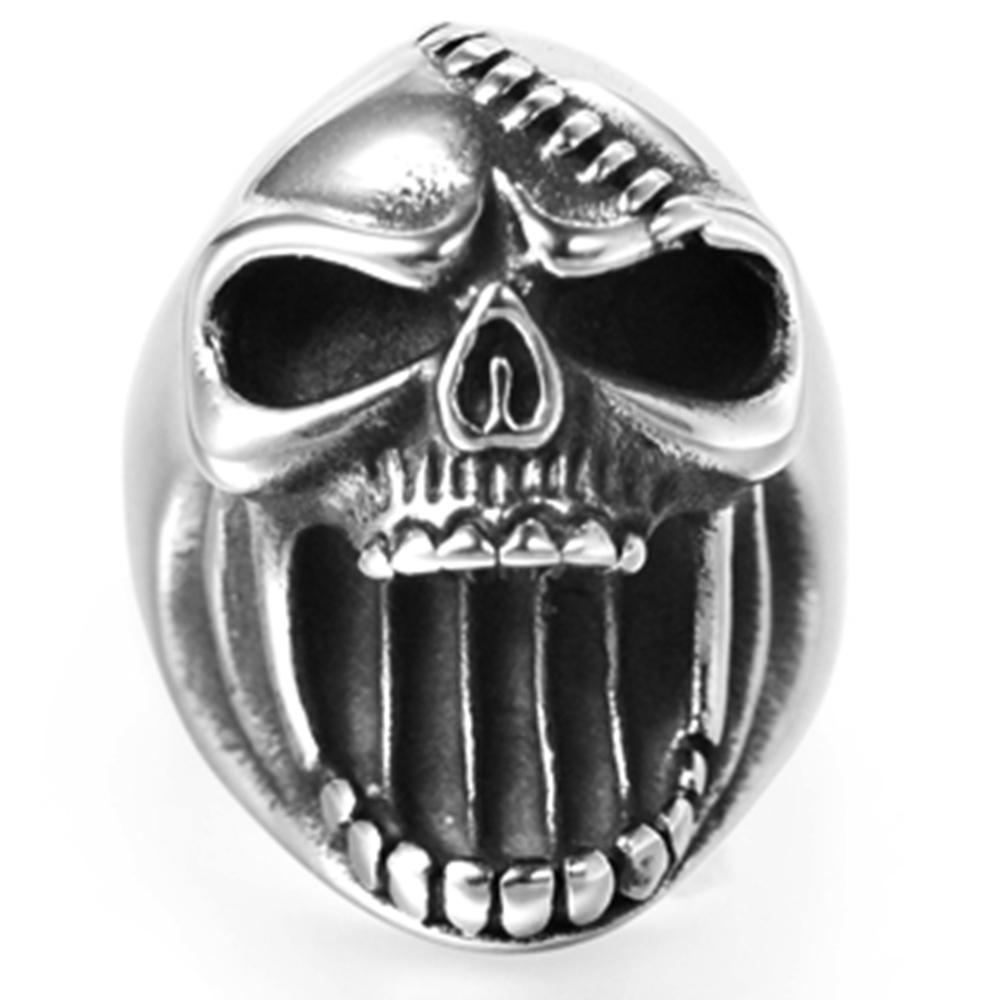 แหวนเก๋ๆ Code 038 แหวนกะโหลกวินเทจพังก์ สแตนเลส ใช้เปิดขวดได้7