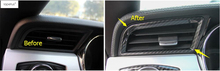 ABS ! Accessories For Ford Mustang 2015 2016 2017 Carbon Fiber Style Inside Air Conditioning Outlet Vent Molding Cover Kit Trim(China)