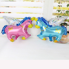 HOT!!! 50pcs/lot 45*38CM mini flying horse foil balloon helium cartoon balloons Party supplies decoration inflatable balloons