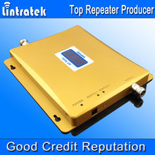 Lintratek LCD Display 3G W-CDMA 2100MHz + GSM 900Mhz Dual Band Mobile Phone Signal Booster GSM 3G UMTS 2100 Signal Repeater S32
