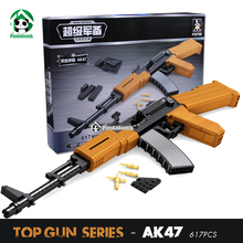 AK 47 Rifle Large Size Gun Building Blocks Set 617pcs Weapon Building Toys for Children War Games Toy Bricks Compatible lepin