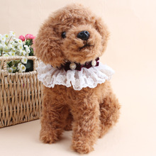 1pc Random Color Fashion Pattern Cotton Lace Bowknot Pet Scarf Dog Bow Tie Pet Necklace Jewelry Dog Cleanning Accessories P0(China)