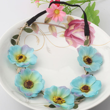 M MISM Beautiful Flower Headbands For Girls Bohemian Style Wreath Wedding Floral Garland For Women Hair Band Accessories