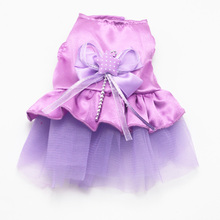 New Small Pet Dog Cat  Bow Skirt Tulle Tutu Dress Puppy Cat Princess Dress Summer Clothes Apparel