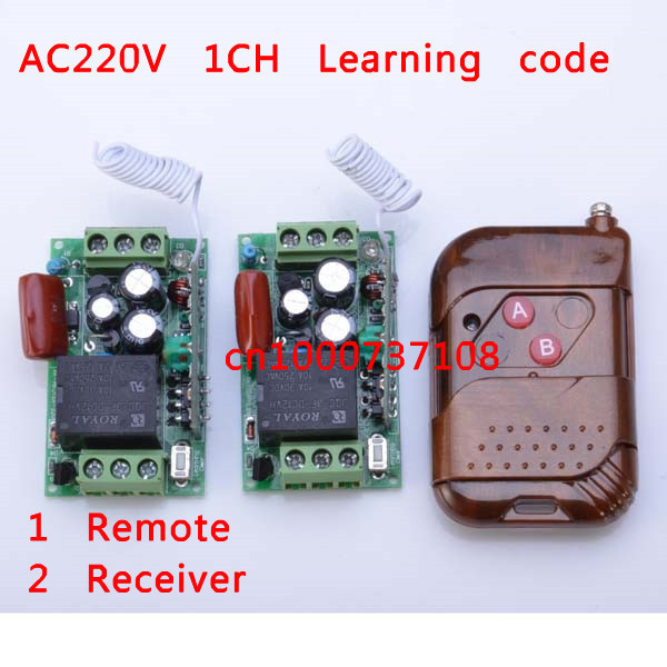 220V 1channel latching relay With learnng button 315/433mhz wireless remote switch control 220v automation for doors<br><br>Aliexpress