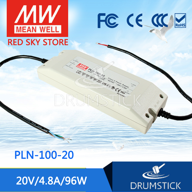hot-selling MEAN WELL PLN-100-20 20V 4.8A meanwell PLN-100 20V 96W Single Output Switching Power Supply<br>