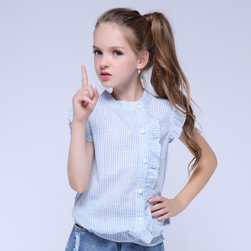 Girl Shirt Brand 17 Cotton Girls White Blouses High Quality Solid Teenage School Uniform Shirt Long Sleeve Spring Kids Clothes 4