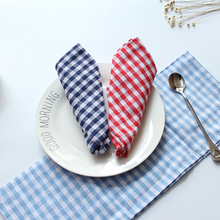 Cotton Linen Napkin Tea Towels Pastoral Plaid Striped Table Napkin Kitchen Washing Dishes Bugaboo Coffee Table Diner Napkin