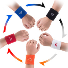 2pcs Sports Tennis Badminton Gym Wristband Exercise Wrist Protector Wipe Sweat free shipping