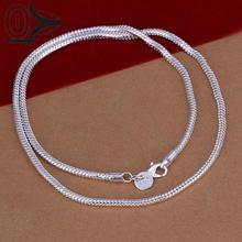 New Design!!Wholesale Silver Plated Necklace & Pendant,Fashion Jewelry Accessories,3M 16-24'' Snake Chain Silver Necklaces